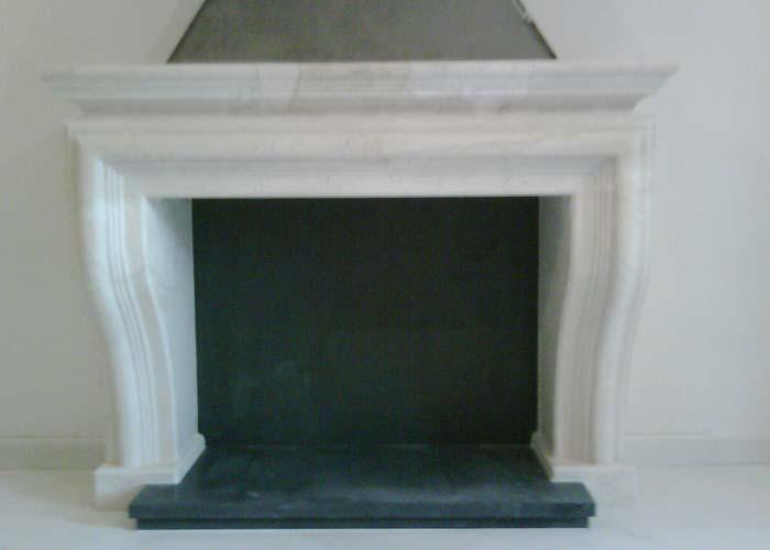 Fabricaci n de chimeneas en m rmol y piedra natural codepina for Marmol blanco real